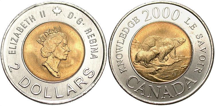 2013 CANADA TOONIE BRILLIANT UNCIRCULATED TWO DOLLAR COIN