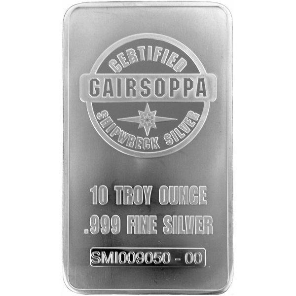 10 Ounce S S Gairsoppa Shipwreck Certified Silver Bar
